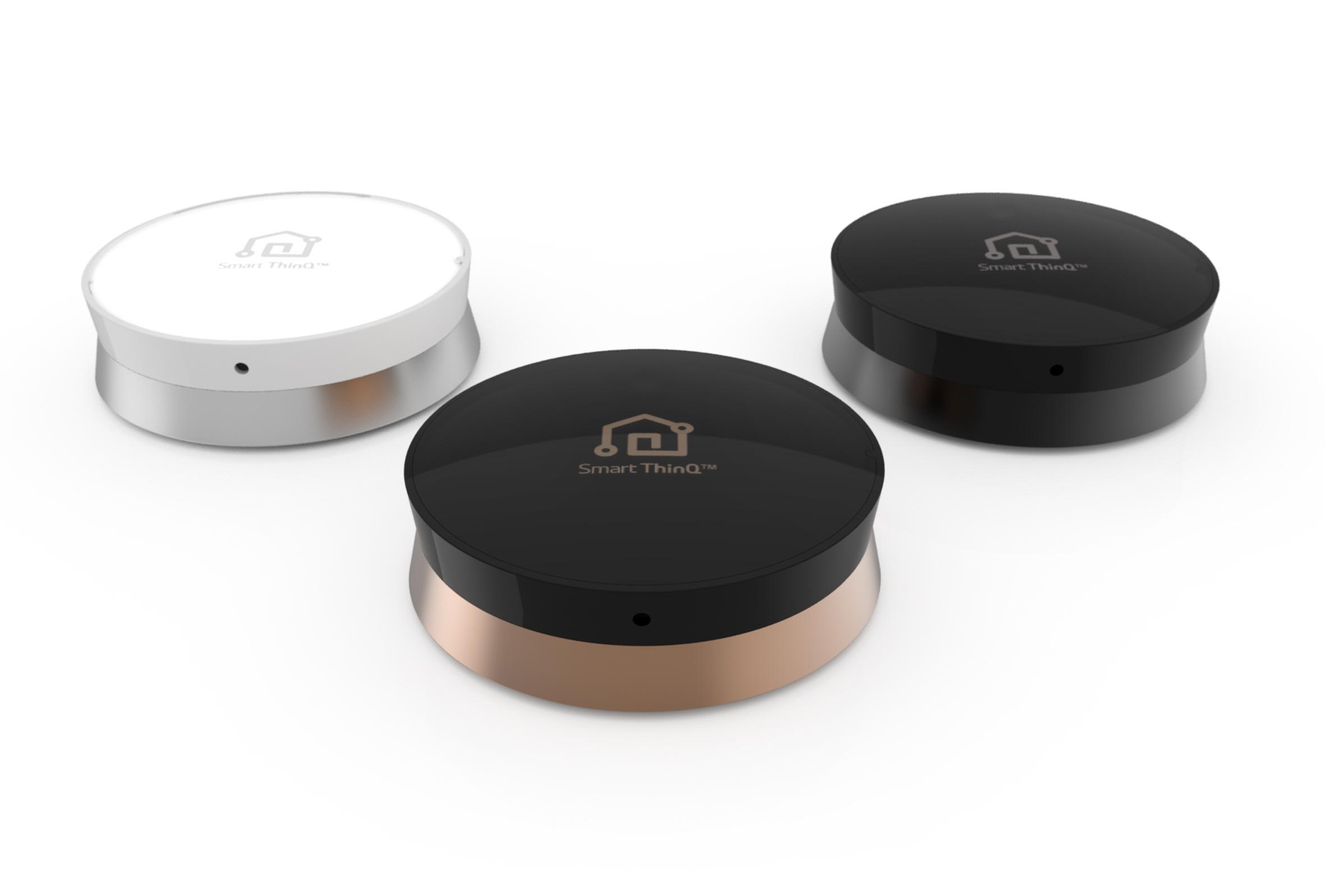 Internet Rzeczy (czyli IoT - Internet of Things) wg LG, czyli czujniki SmartThinQ, które są elementami systemu SmartThinQ HUB - fot. LG