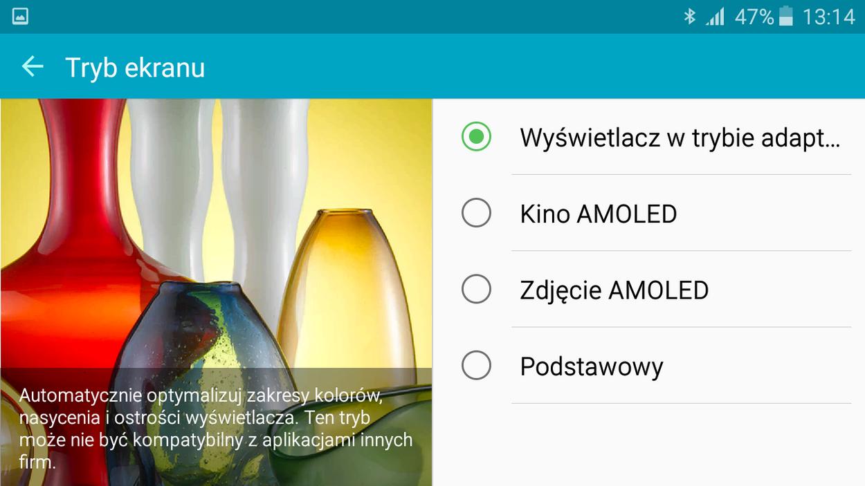 Samsung Galaxy A3 2016- Tryby w jakich pracować moze wyświetlacz - 90sekund.pl