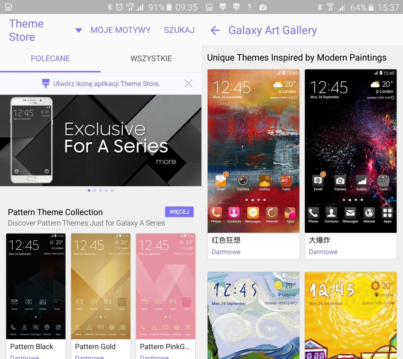 Samsung Galaxy A5 2016 - wybór odpowiedniego motywu może być kłopotliwy... z uwagi na to, jak wiele świetnych opcji przygotował Samsung - 90sekund.pl