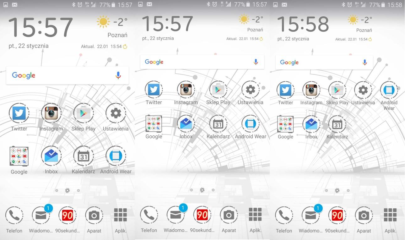 Samsung Galaxy A5 2016 - samemu zdecyduj, jak dużo ikon z apkami chcesz miec na pulpicie - 90sekund.pl
