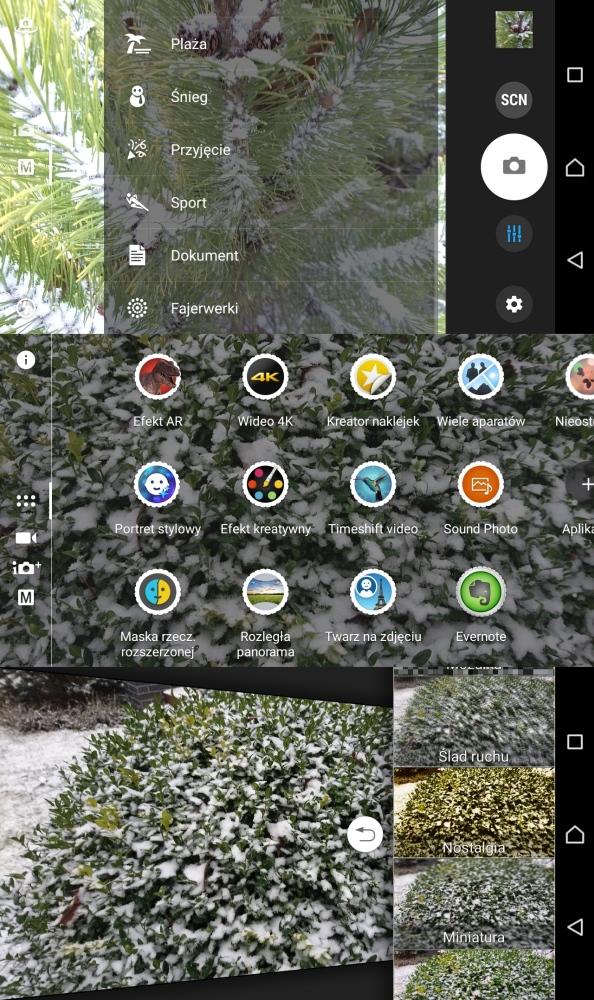 Recenzja Sony Xperii Z5 Compact - funkcje i tryby w aplikacji aparatu - 90sekund.pl