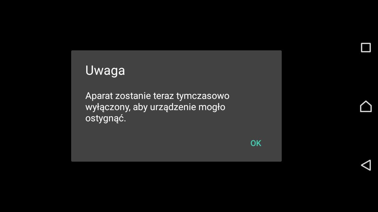 Recenzja Sony Xperii Z5 Compact - komunikat o wysokiej temperaturze - 90sekund.pl