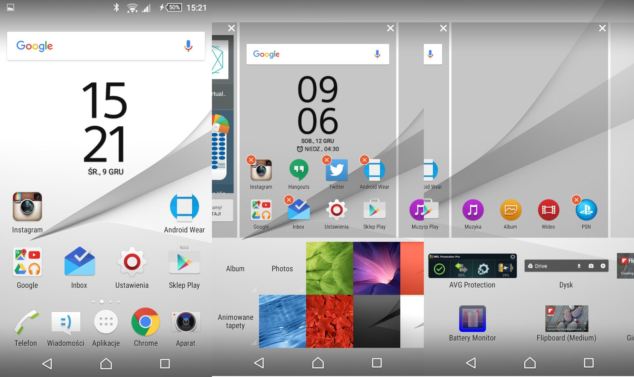 Recenzja Sony Xperii Z5 Compact - wygląd ekranu głównego i personalizacja - 90sekund.pl