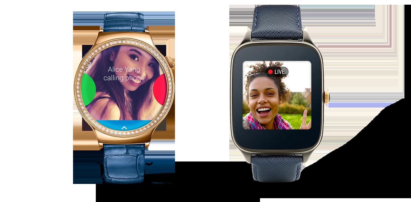 Huawei Watch i Asus Zenwatch 2 (49 mm) - fot. Google