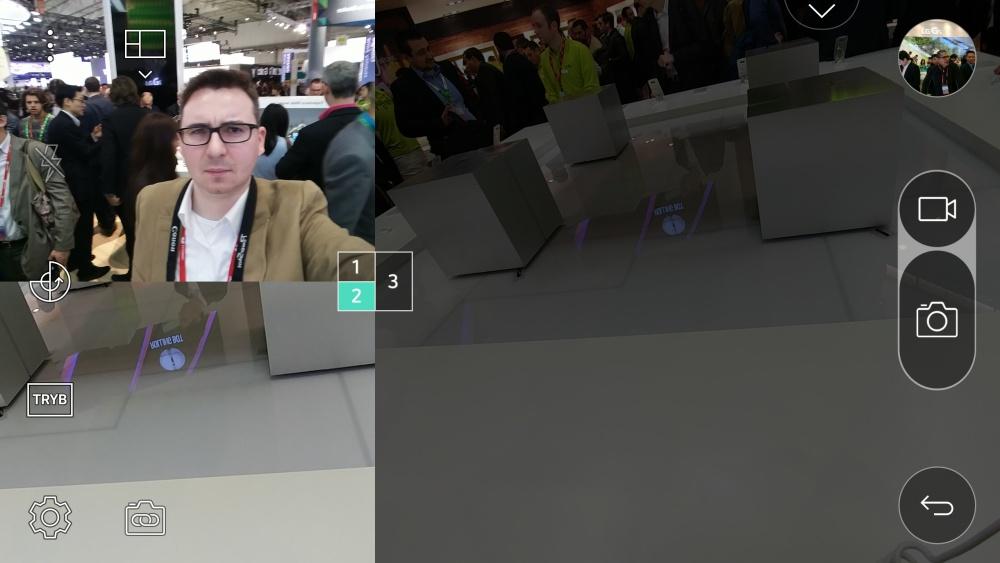 Aplikacja aparatu w LG G5 - tryb Multi View - 90sekund.pl