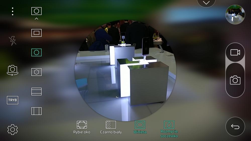 Aplikacja aparatu w LG G5 - opcja Pop-Out Picture z innym wariantem kadru - 90sekund.pl