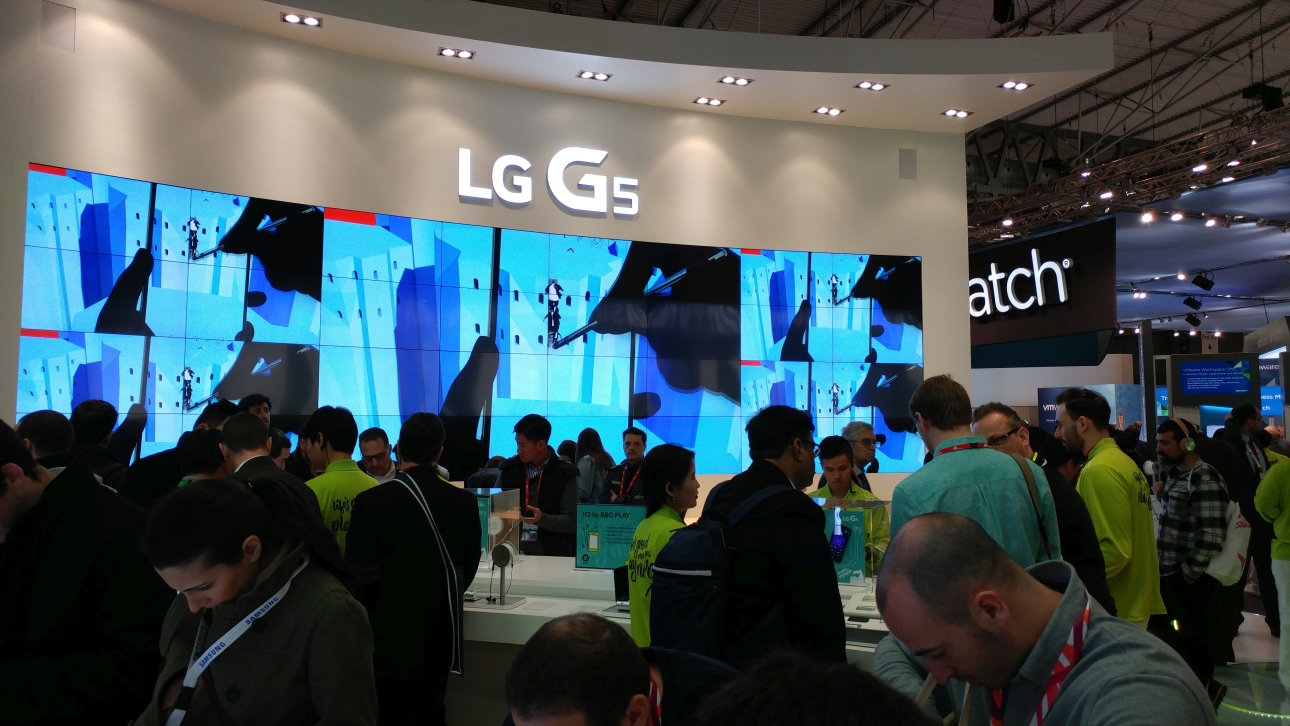 Zdjęcie wykonane smartfonem LG G5 w warunkach targowych w czasie MWC 2016 w Barcelonie - 90sekund.pl