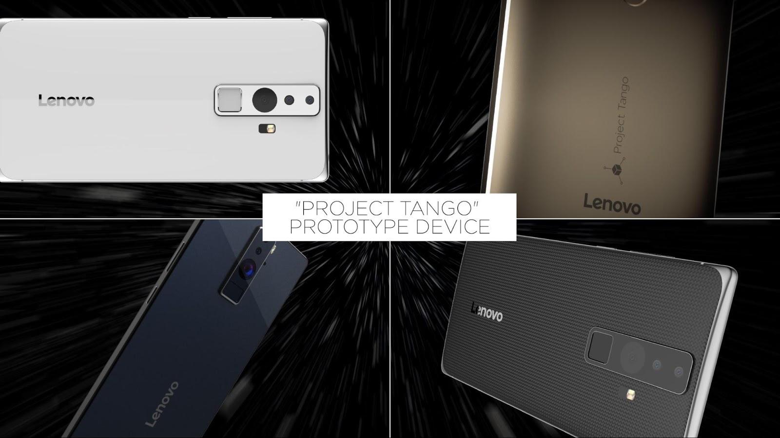 Prototypy smartfonów z Projektu Tango - fot. mat. pras.
