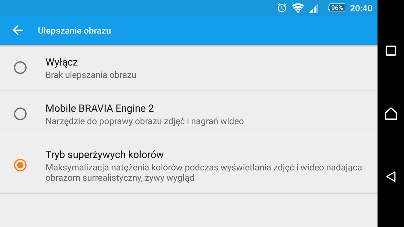 Sony Xperia M5 - Tryby działania ekranu - 90sekund.pl