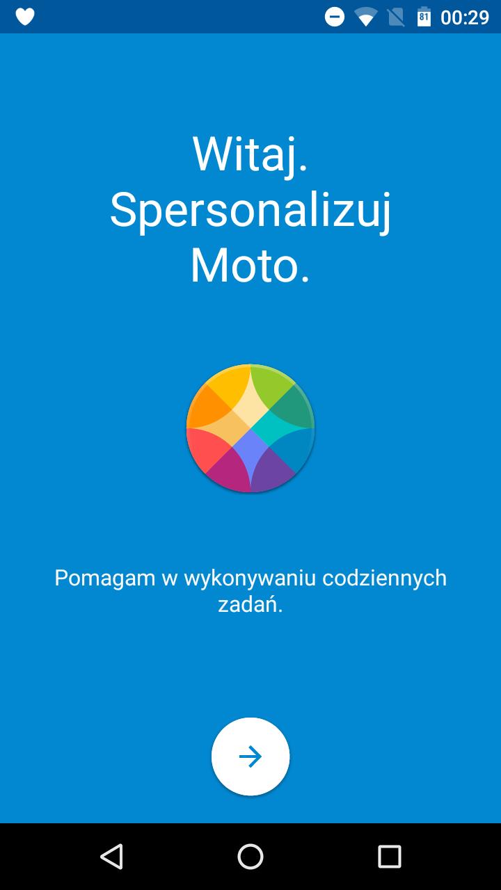 Lenovo Motorola Moto G 3-gen. (2015) - aplikacja Moto - 90sekund.pl