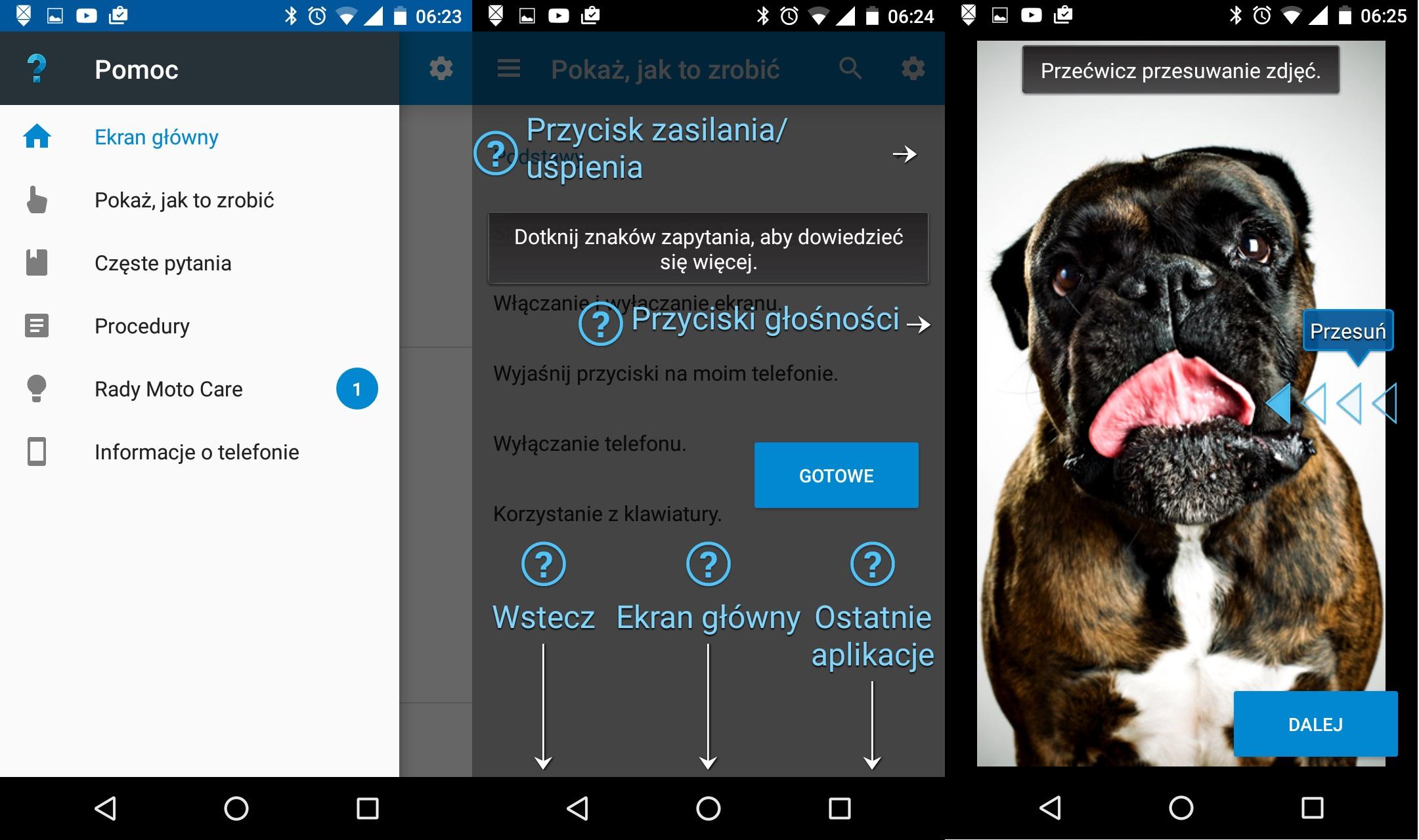 Lenovo Motorola Moto G 3-gen. (2015) - aplikacja Pomoc - 90sekund.pl