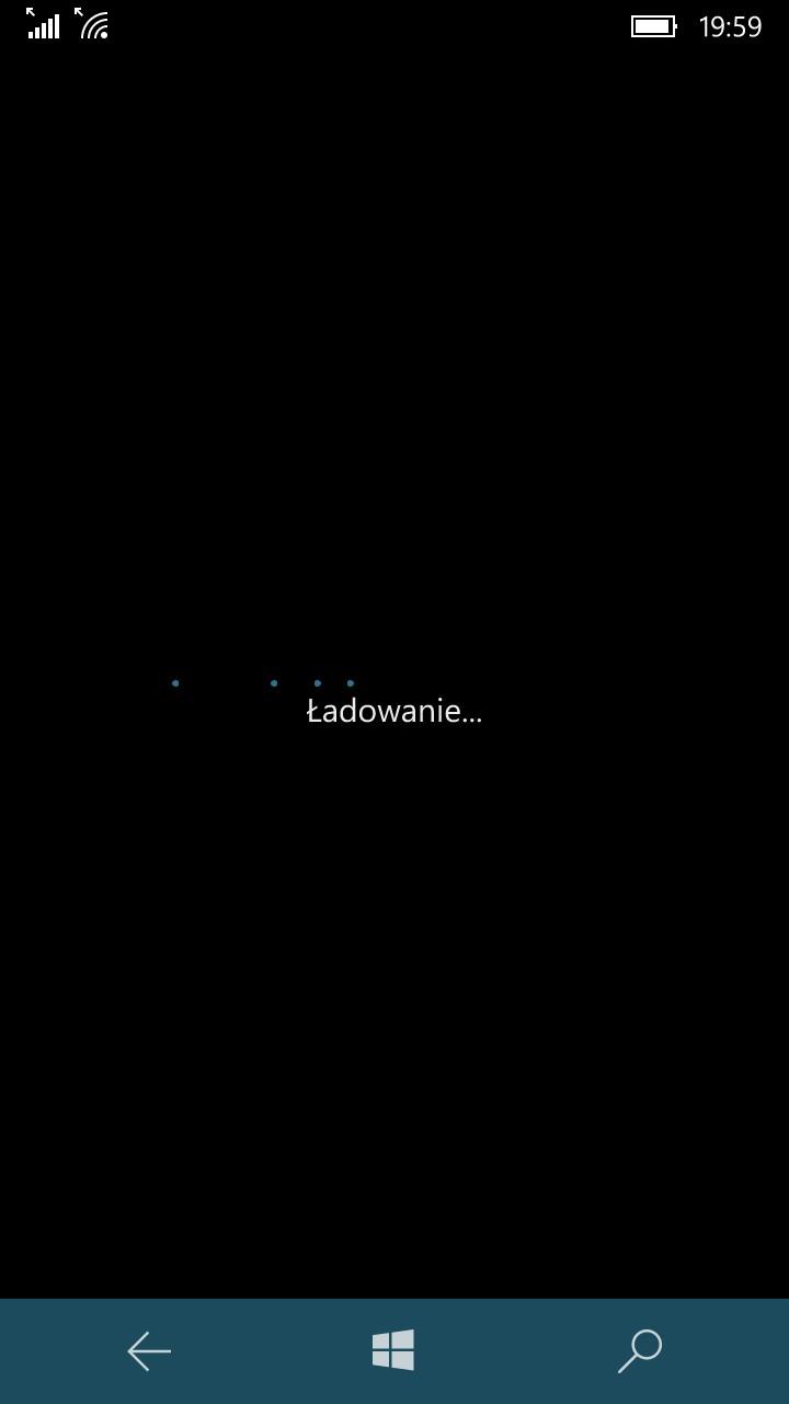 To dość często spotykany ekran w Lumii 650 - 90sekund.pl