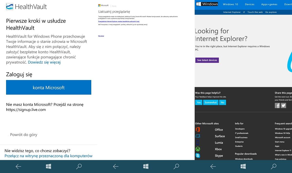 Skoro system Windows 10 Mobile na Lumii 650 ma problem z określeniem, która przeglądarka jest właściwa, to ja dziękuję... - 90sekund.pl