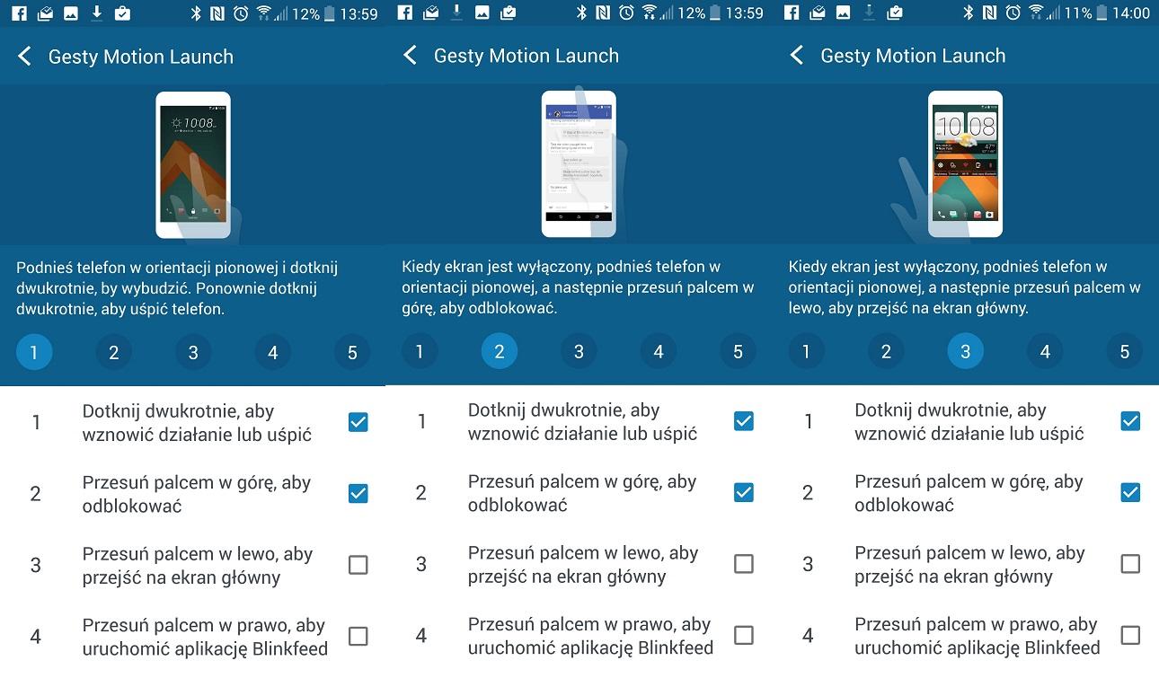 Kilka przykładów na inteligentną obsługę HTC 10 - recenzja 90sekund.pl