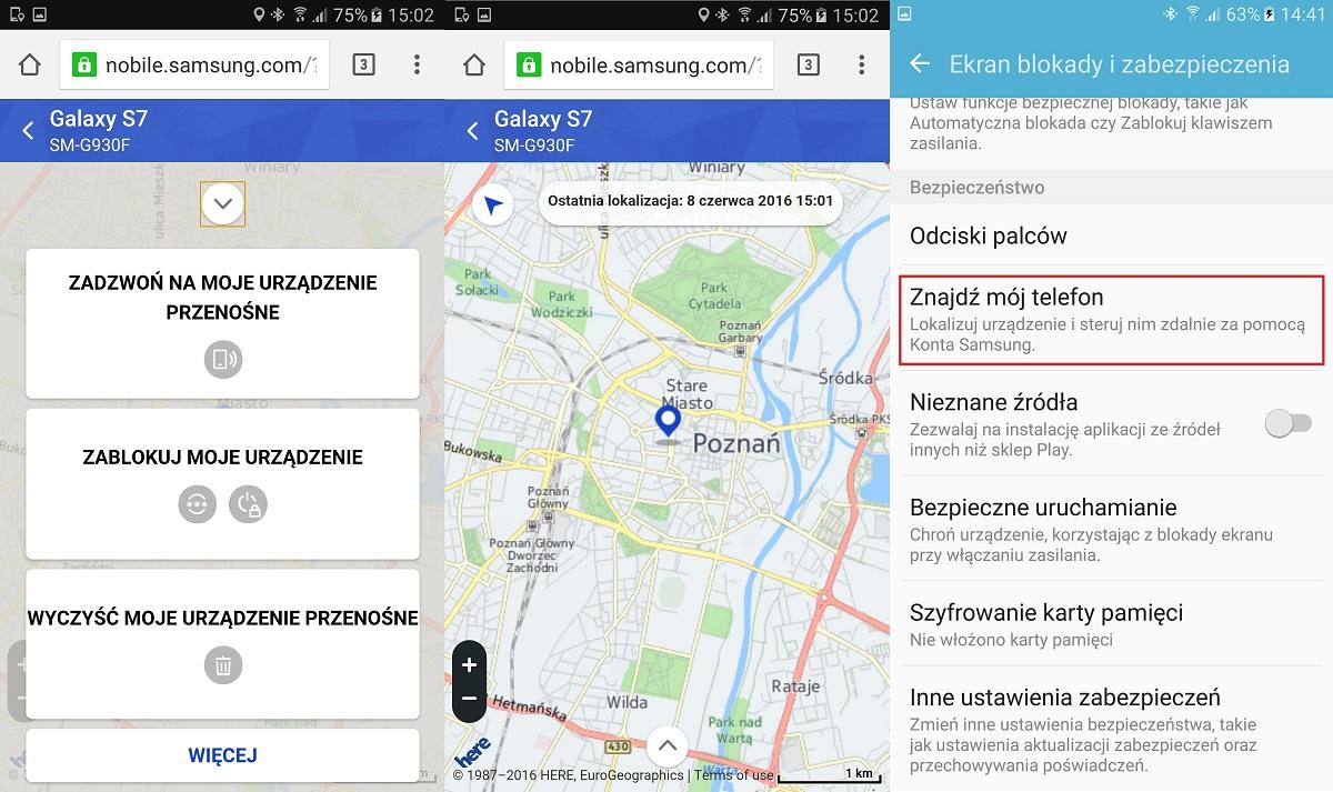 Samsung Galaxy S7 i usługa odnajdywania zagubionego telefonu - 90sekund.pl