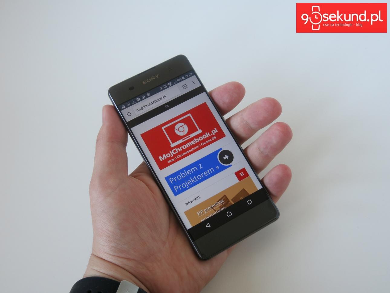Zobacz, jaka poręczna Sony Xperia XA - recenzja 90sekund.pl