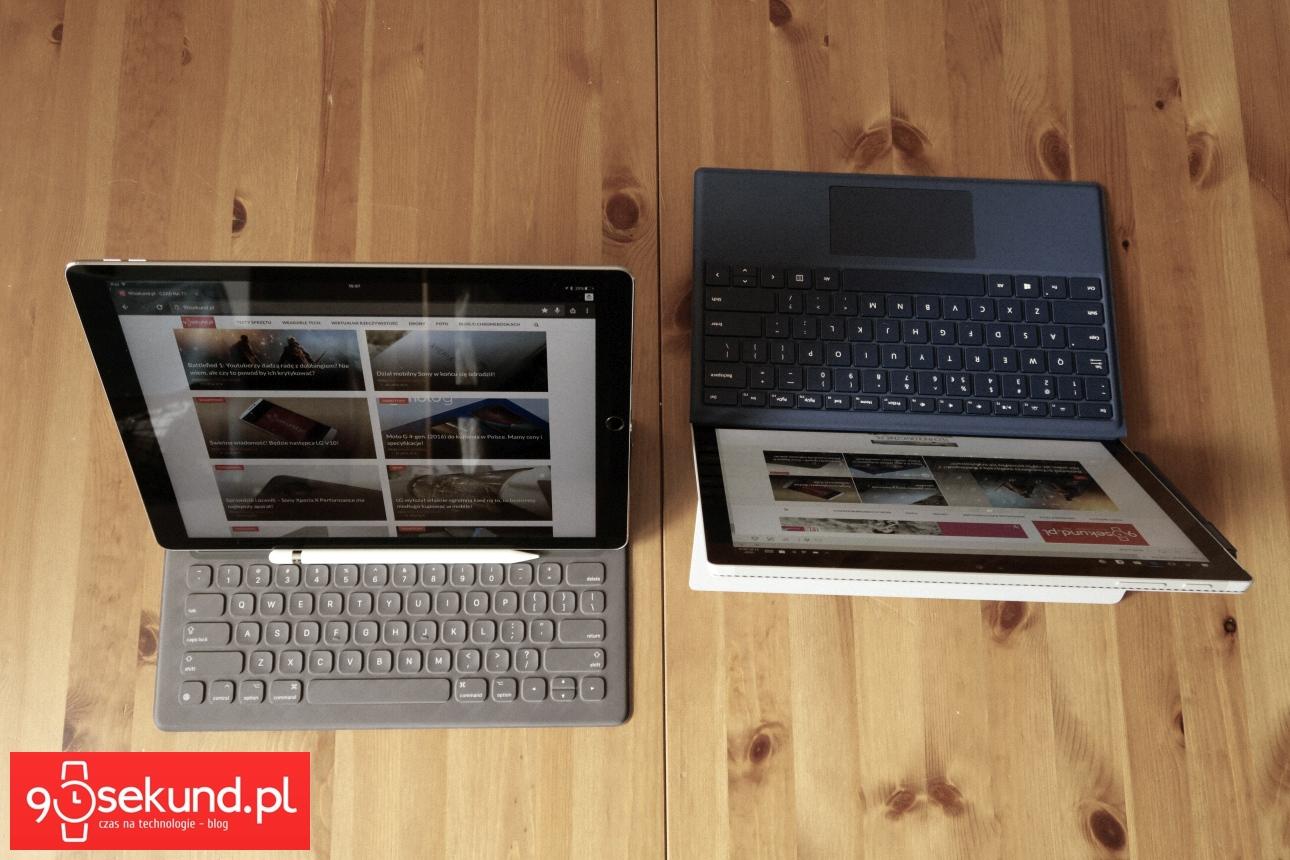 Apple iPad Pro 12,9 (2015) oraz Microsoft Surface Pro 4 - 90sekund.pl