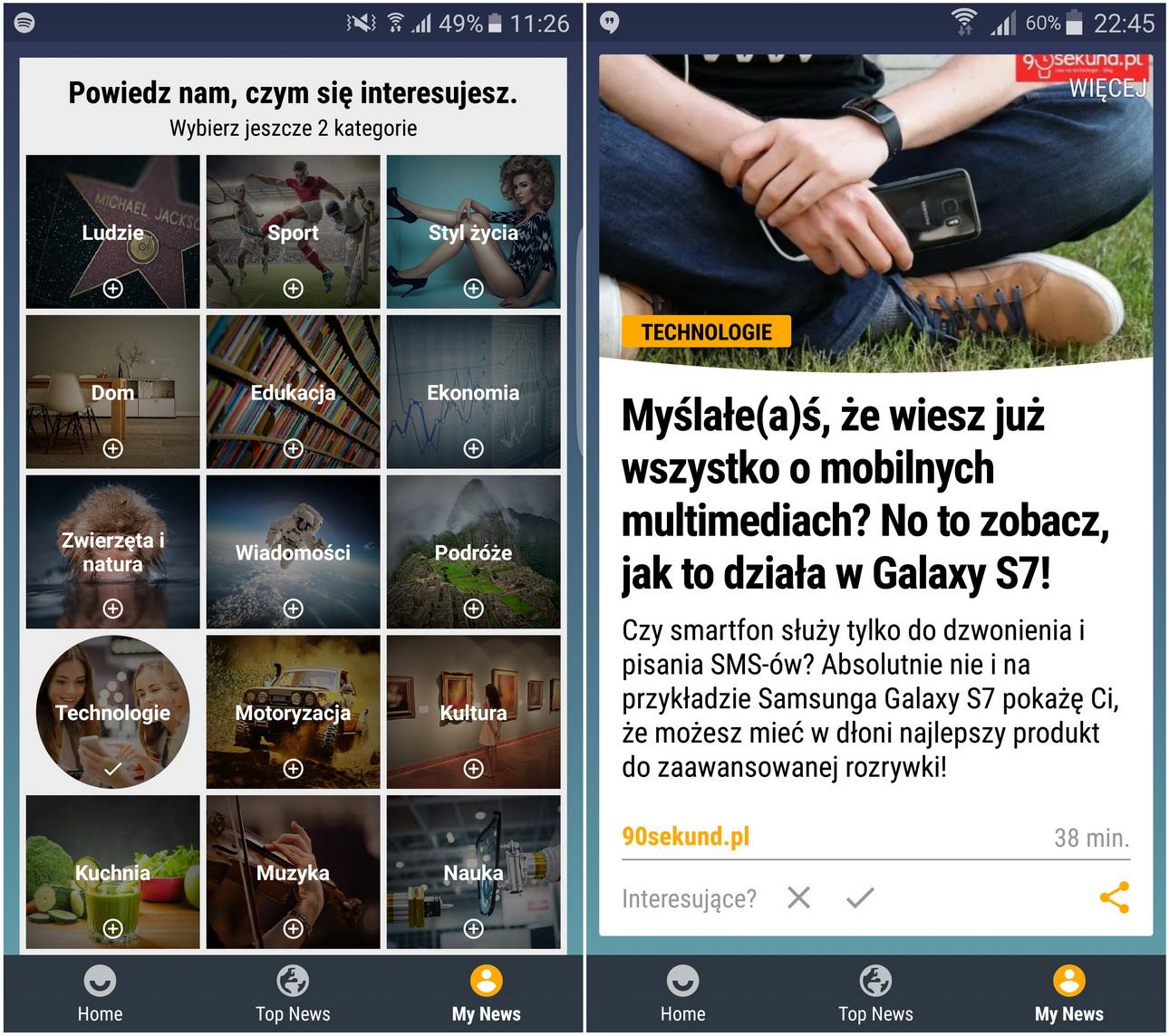 Samsung Galaxy S7 (SM-G935) Upday- recenzja 90sekund.pl