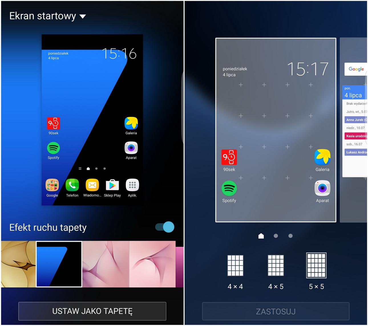 Samsung Galaxy S7 (SM-G935) TouchWiz - recenzja 90sekund.pl