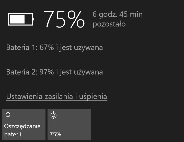 Podgląd zużycia baterii w Surface Booku od Microsoftu - recenzja 90sekund.pl