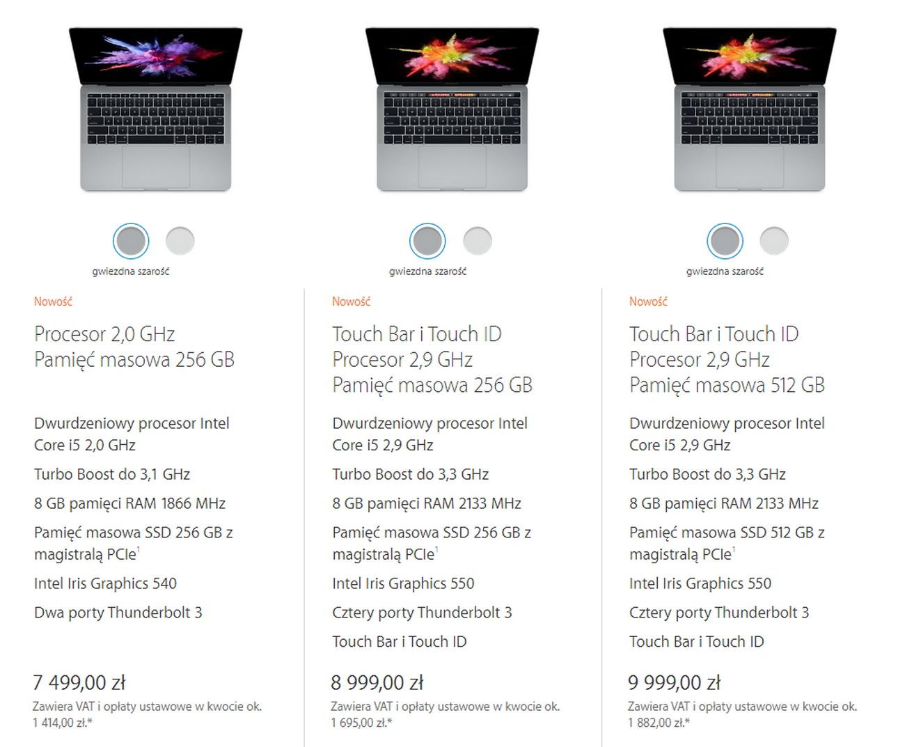 Polskie ceny nowych MacBooków