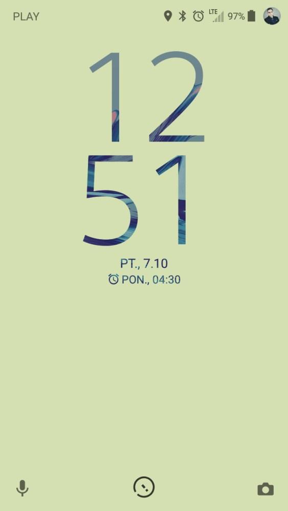 Ekran blokady w Sony Xperia X Compact F5321 - recenzja 90sekund.pl