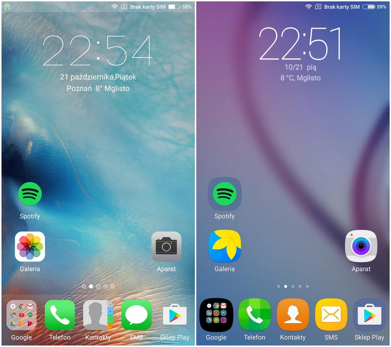 Xiaomi Mi5 - MIUI oferuje różne motywy - recenzja 90sekund.pl