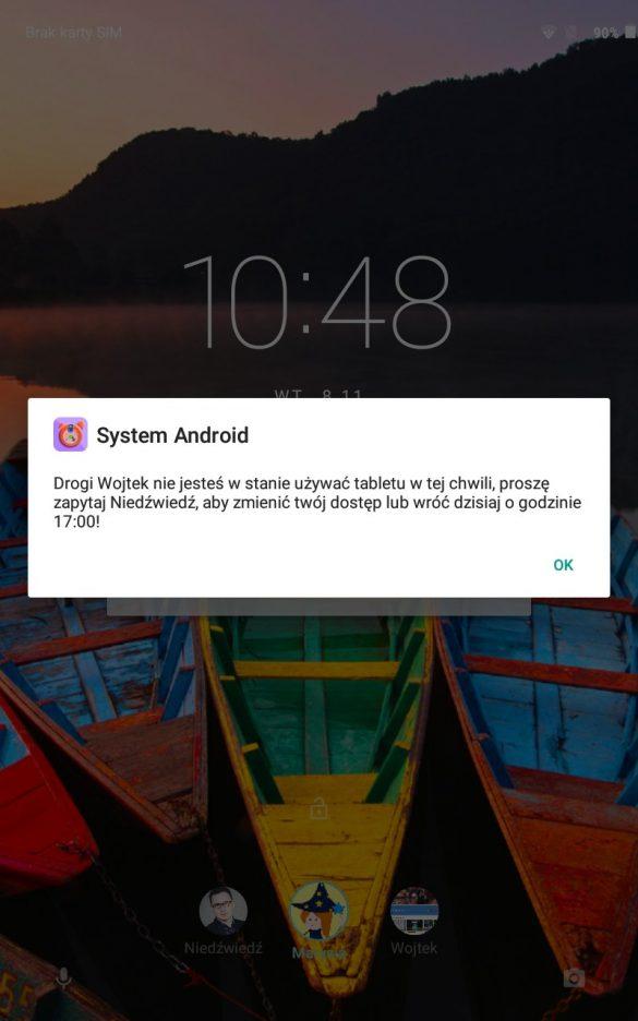 Minął czas na zabawę? Przykro mi, tylko tata lub mama mogą odblokować tablet - Lenovo TAB3 8 LTE (TB3-850M) - 90sekund.pl