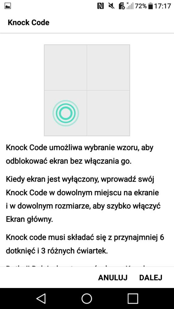 Co to jest Knock Code i jego ustawienie w LG X Power - 90sekund.pl