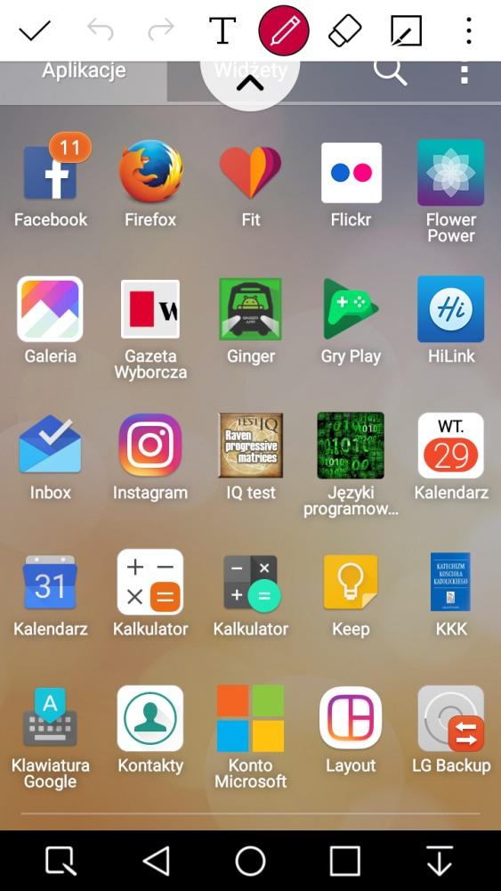 Przykład użycia Capture+ w LG X Power - 90sekund.pl