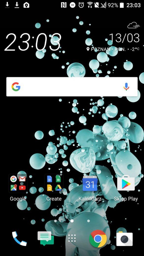 Klasyczny interfejs HTC U Play - 90sekund.pl