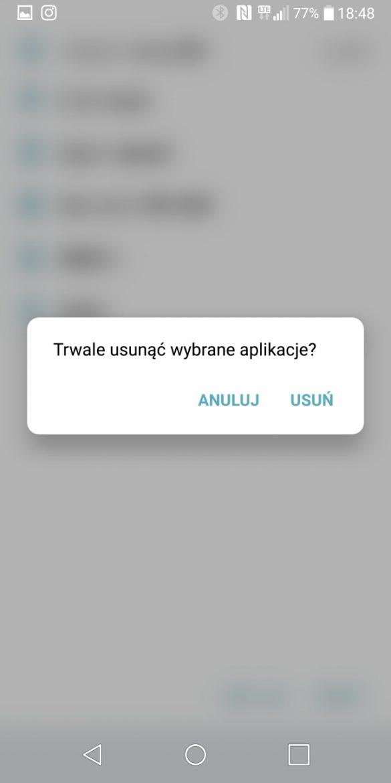 Kosz na aplikacje w LG G6 - 90sekund.pl