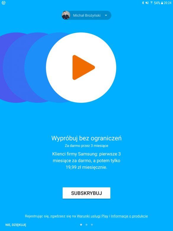Muzyka z Google za free w Samsungu Galaxy Tab S3 - 90sekund.pl