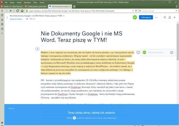 Dropbox Paper - 90sekund.pl