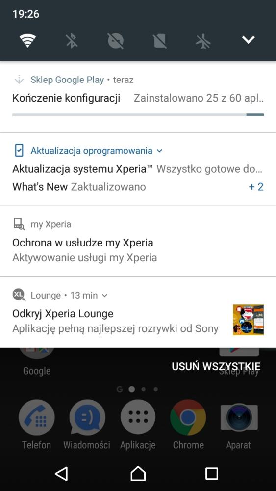 Wygląd systemu w Sony Xperia XA1 (G3121) - recenzja 90sekund.pl