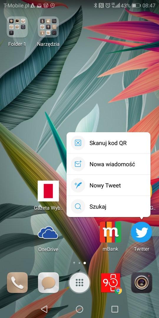 Interfejs EMUI 8.0 w Huawei Mate10 Pro (BLA-L29) - recenzja 90sekund.pl
