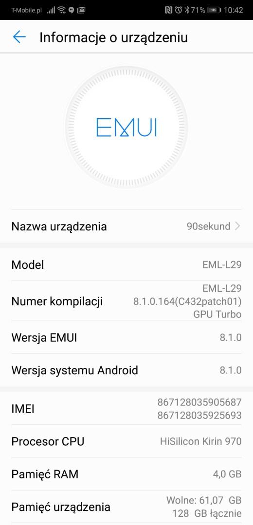 Recenzja Huawei P20 (EML-L29) - 90sekund.pl -Michał Brożyński