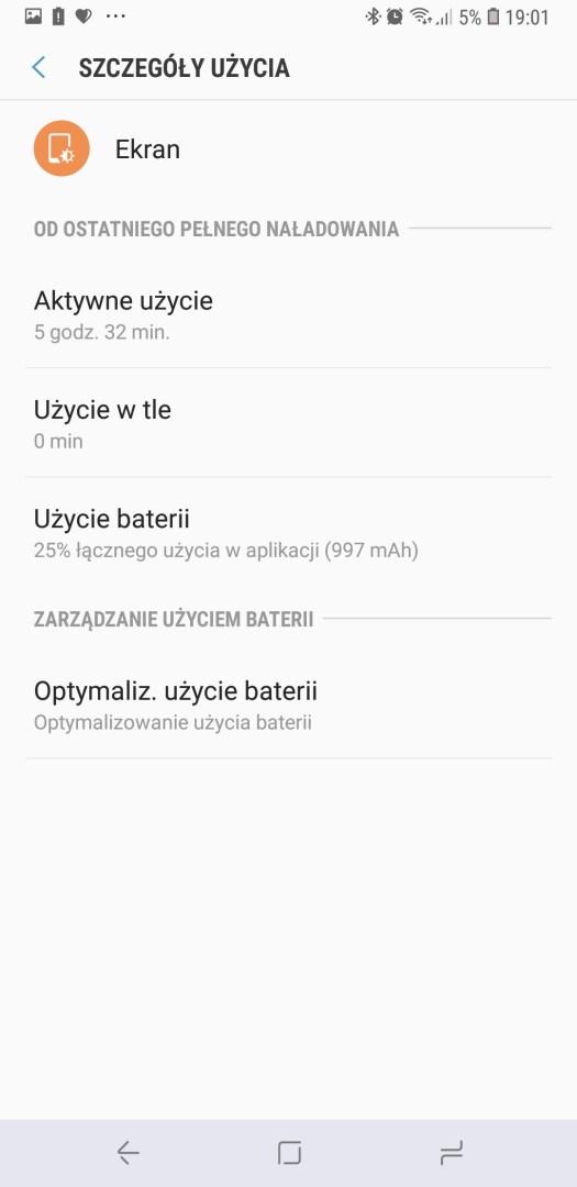 Czas pracy na baterii w Galaxy A6 Plus - 90sekund.pl / Michał Brożyński