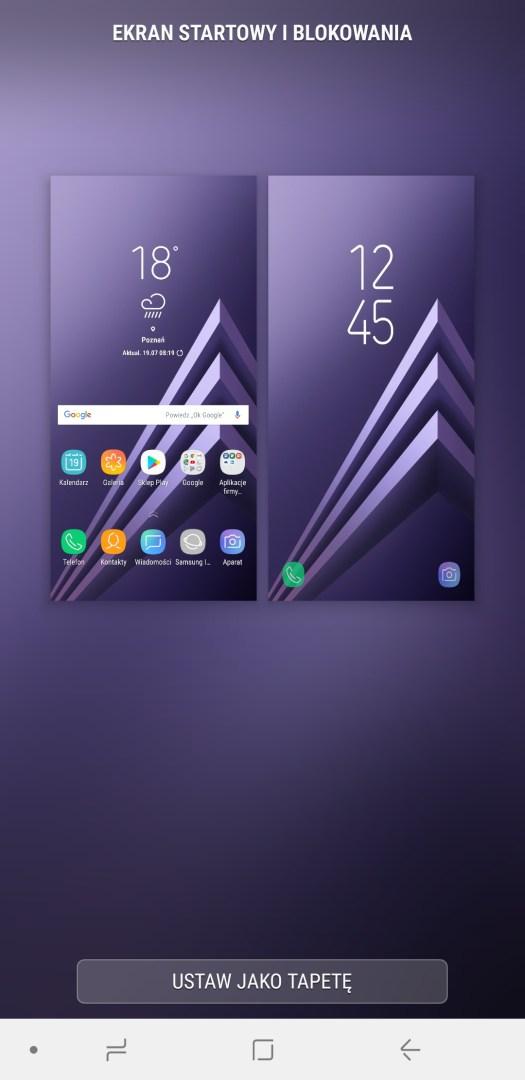 Wygląd systemu w Galaxy A6 Plus - 90sekund.pl / Michał Brożyński