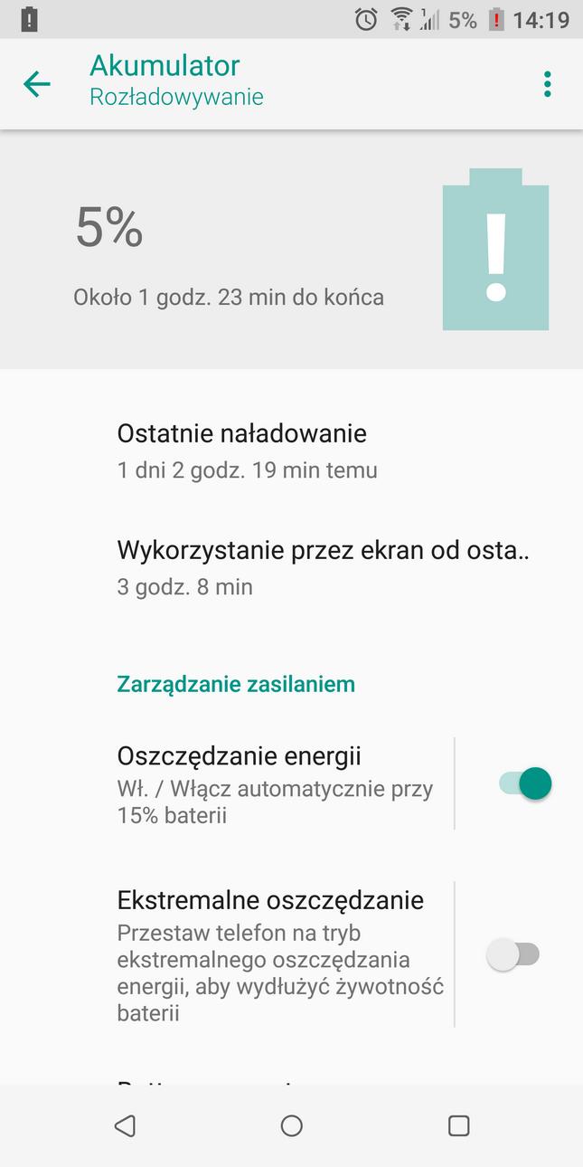 Recenzja HTC U12+(Plus) – Przykładowe zużycie baterii – 90sekund.pl