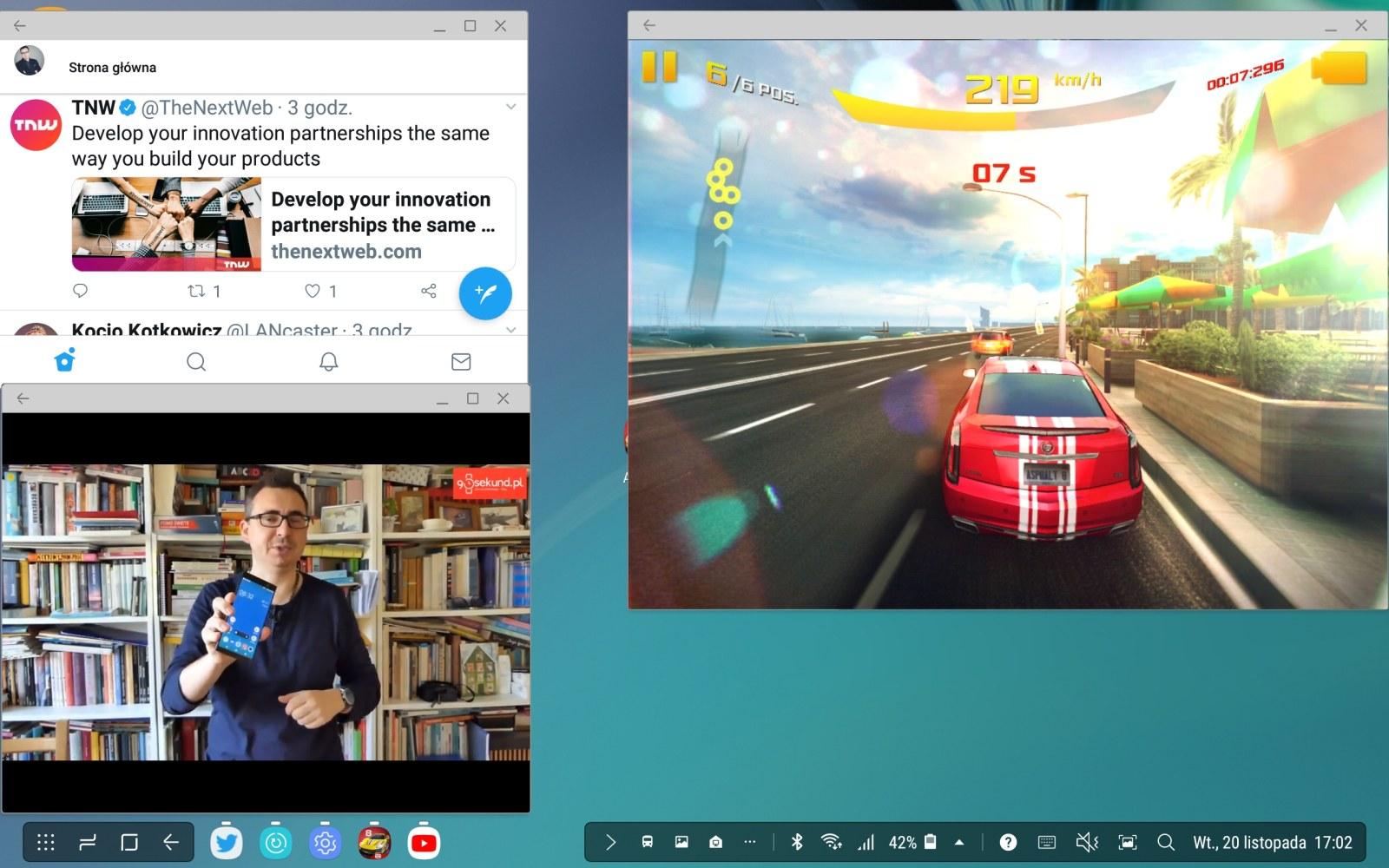 Środowisko Samsung DeX w tablecie Galaxy Tab S4 - Michał Brożyński - 90sekund.pl
