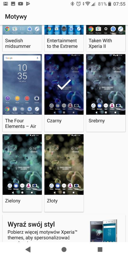 Sony Xperia XA2 Plus - system Android - Michał Brożyński 90sekund.pl