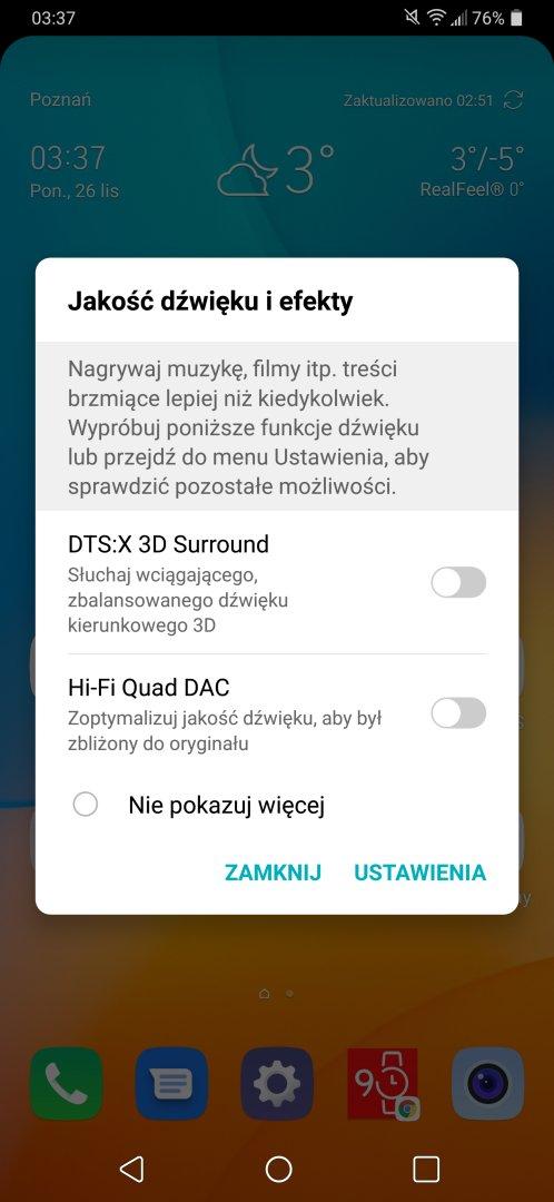 Ustawienia dźwięku w LG G7 ThinQ - Michał Brożyński - 90sekund.pl
