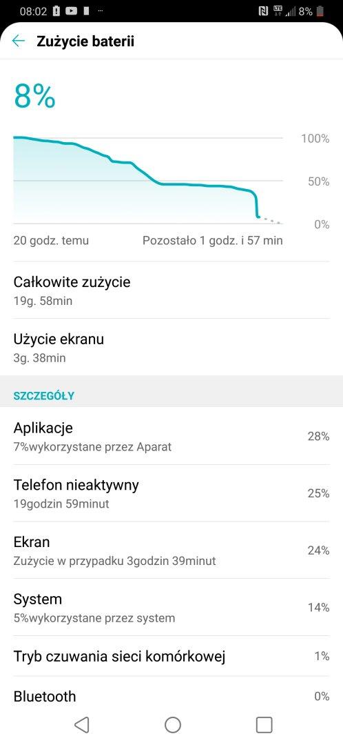 Czas pracy na baterii LG G7 ThinQ - Michał Brożyński - 90sekund.pl