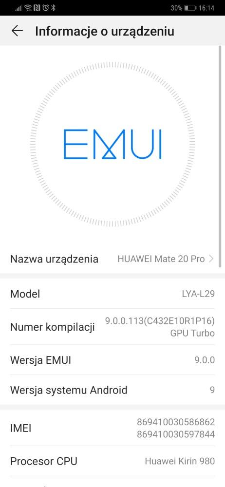 Android 9 Pie w Huawei Mate 20 Pro - Michał Brożyński - 90sekund.pl