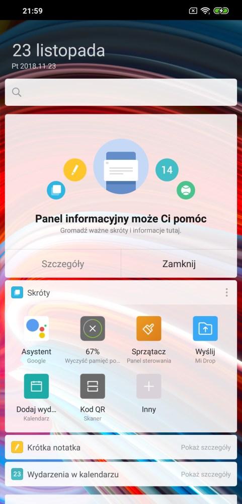 Poco Launcher na Pocophone F1 - Michał Brożyński 90sekund.pl