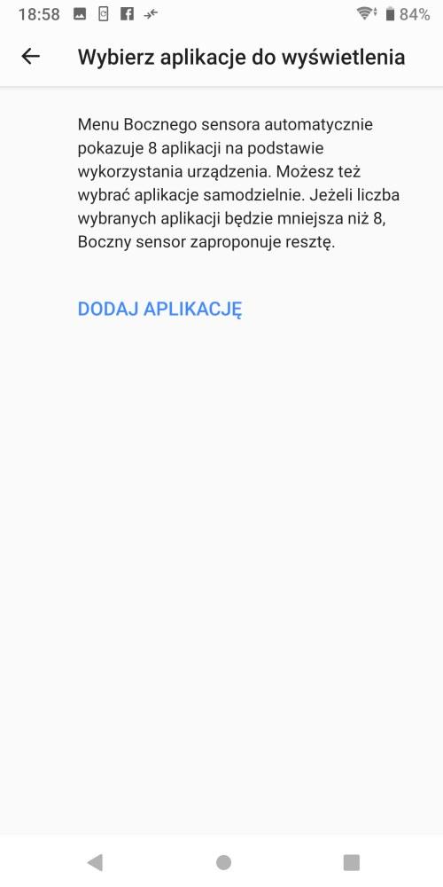 Boczny Sensor w Sony Xperii XZ3 - Michał Brożyński 90sekund.pl