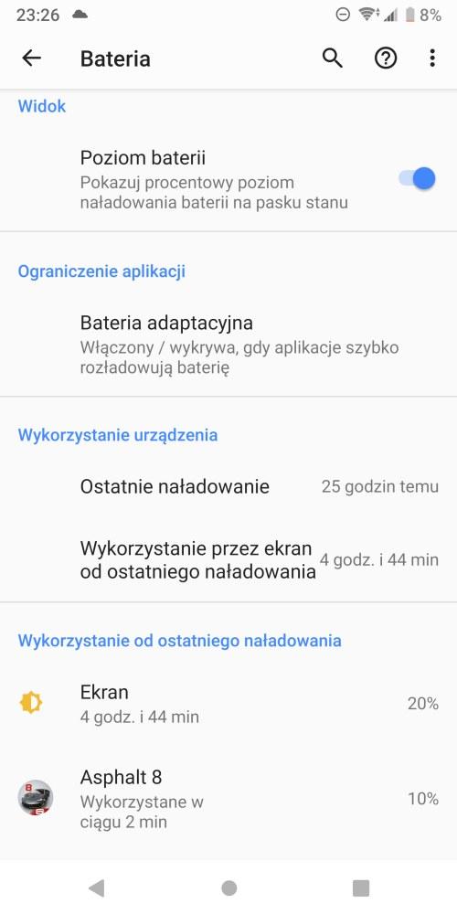 Bateria w Sony Xperia XZ3 - Michał Brożyński 90sekund.pl