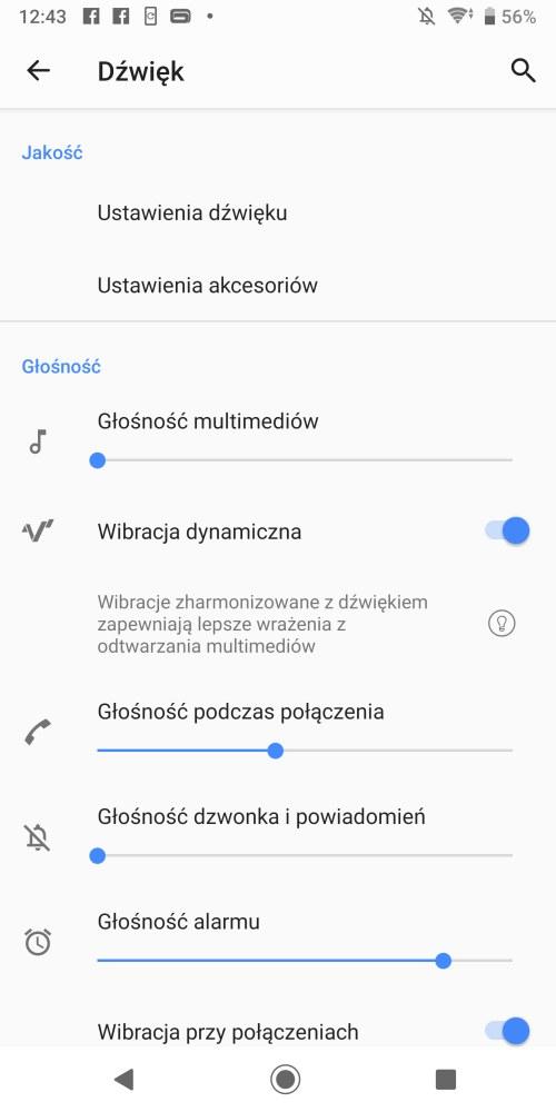 System Dynamicznej Wibracji w Sony Xperii XZ3 - Michał Brożyński 90sekund.pl
