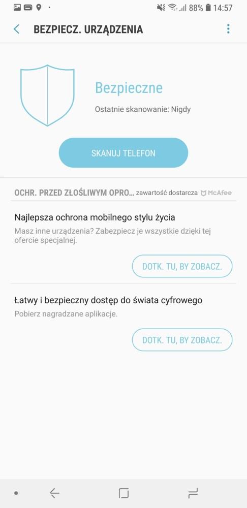 Ustawienia wydajności Galaxy A7 2018 - Michał Brożyński 90sekund.pl